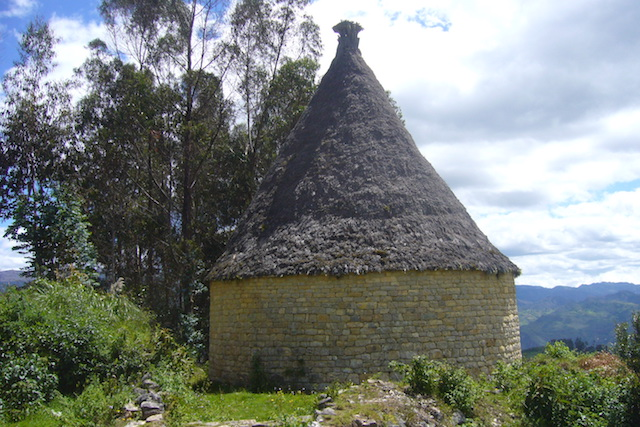 Reconstructed Chachapoya dwelling at Collacruz, near Levanto.