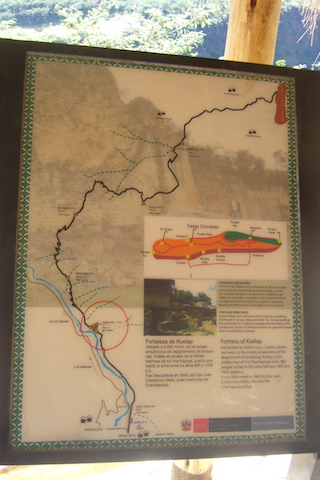 Kuelap Hike - Route Map