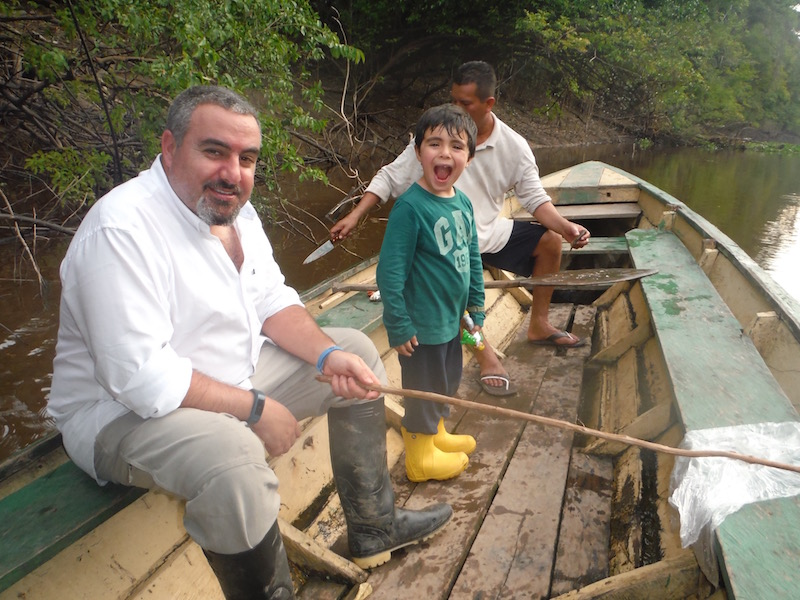 Walter x 3 - Sinchicuy Amazon Lodge - Resting while Piranha Fishing.jpg