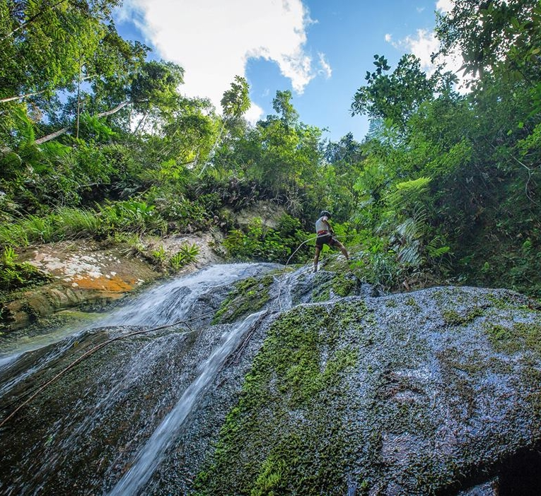 Tarapoto Adventure Excursions - Pucayaquillo Waterfall Abseiling - View from Below.jpg