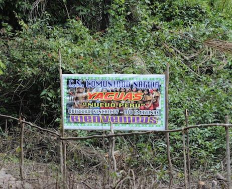 Yagua Indigenous Amazon Tribe - Nuevo Peru sign