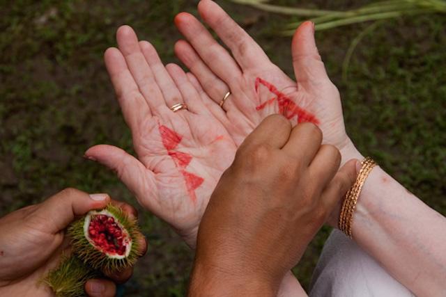 Yagua Indigenous Amazon Tribe - annatto dye