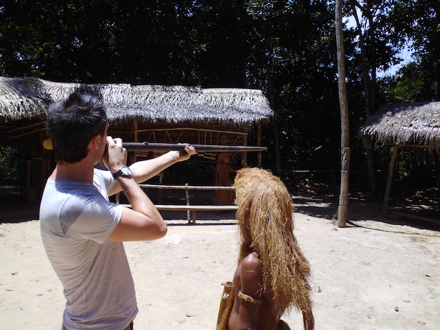 Yagua Indigenous Amazon Tribe - Blowpipe