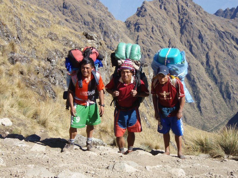 Inca Trail Extension - Kitchen Staff on the move.JPG