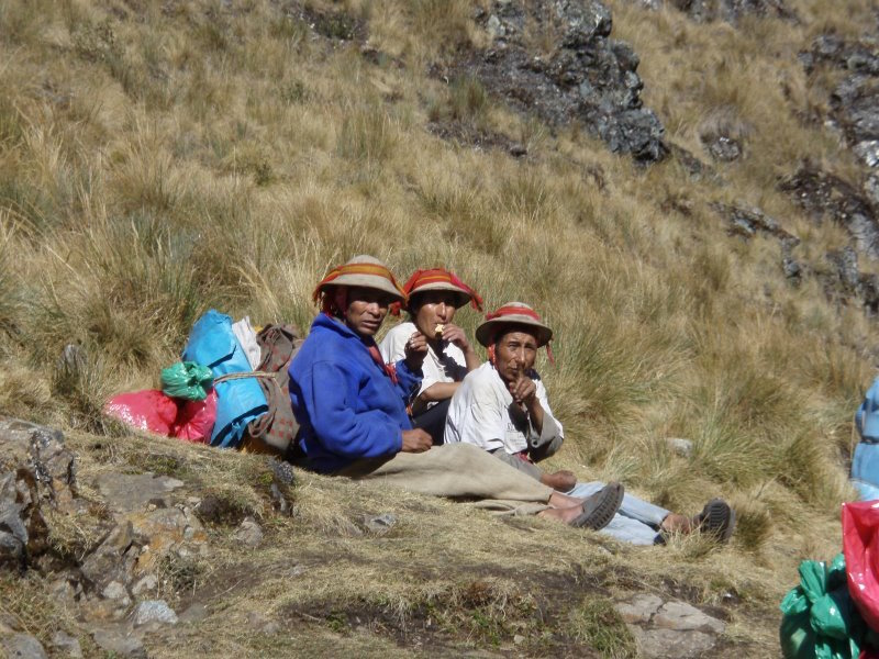Inca Trail Extension - Porters at Rest.JPG