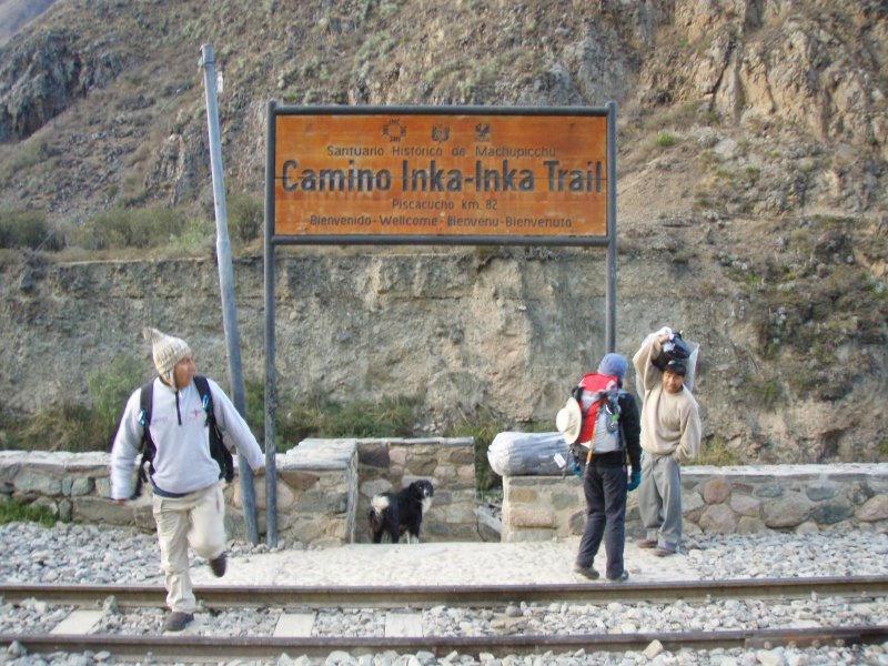 Inca Trail Extension - Start of Camino Inka.JPG