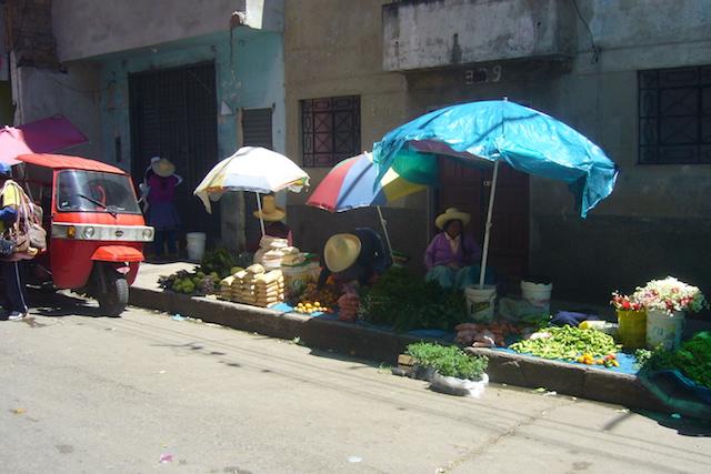 Cajamarca - Pavement Saleswomen.JPG