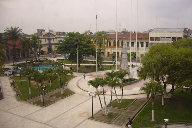 Iquitos, Loreto - Plaza de Armas from Dorado Plaza.JPG