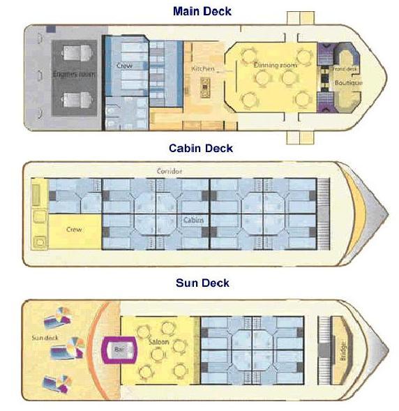 Manatee Amazon Explorer - Deck Plan