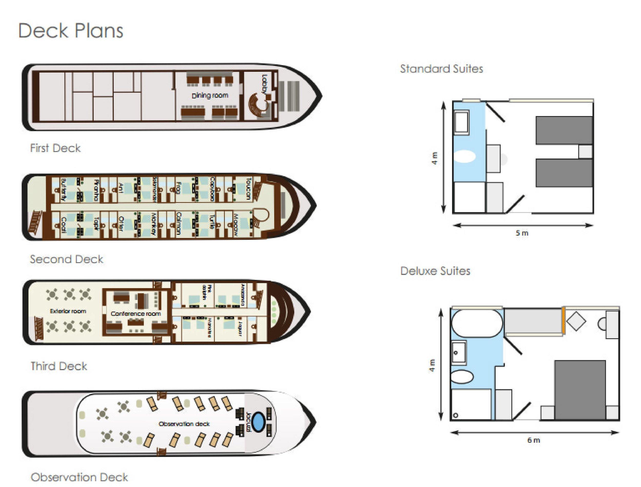 Anakonda Amazon Cruise - Deck Plan