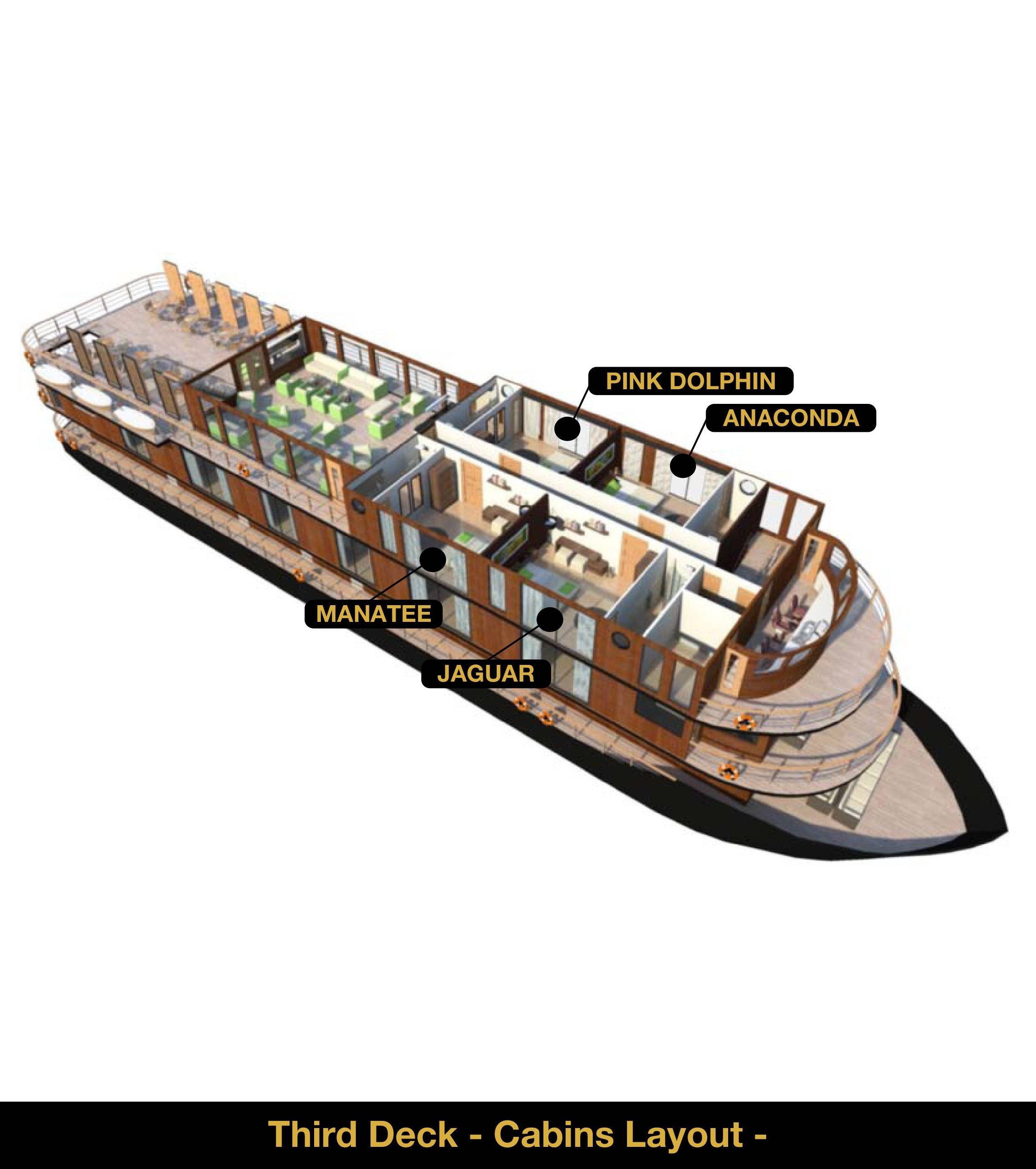 Anakonda Amazon Cruise - Deck 3 - 3D Plan