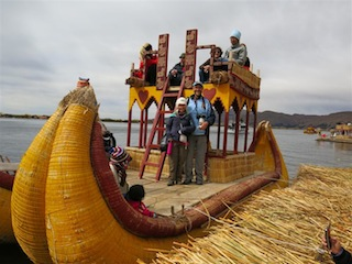 Lake Titicaca 4D - Uros Islands Reed Boat.JPG