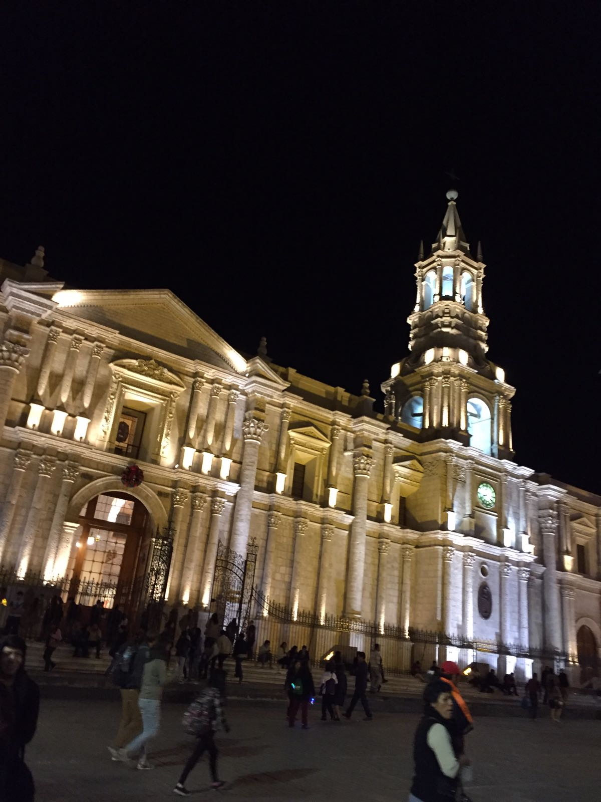 Dallas, Elana x 2 - Arequipa & Colca - Arequipa Cathedral.jpg