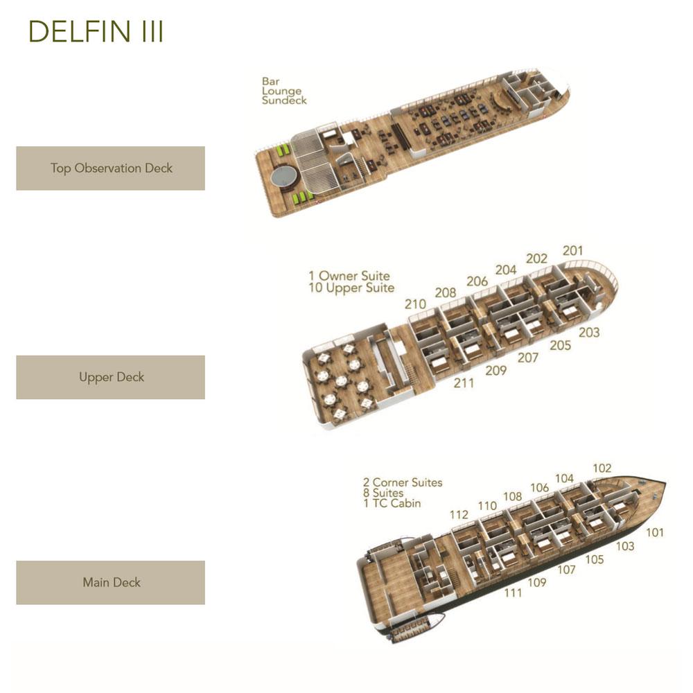 Delfin III Deck Plan