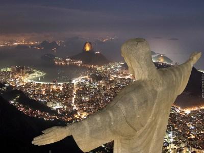 Iguassu Falls & Rio de Janeiro 5D - Corcovado Christ at Sunset.jpg