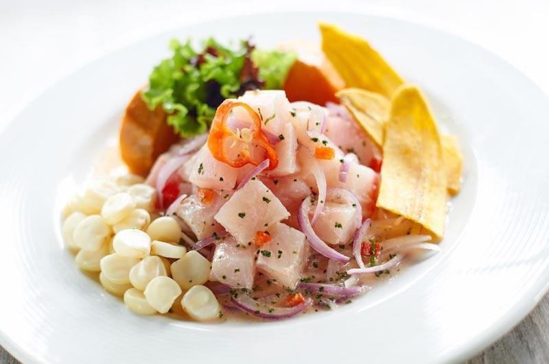 Ceviche de pescado  (Fish ceviche)