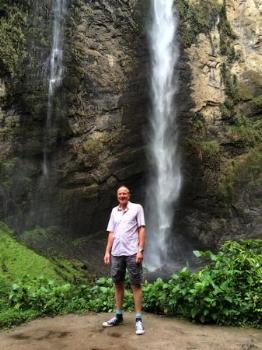 Paul Marshman at Gocta Falls