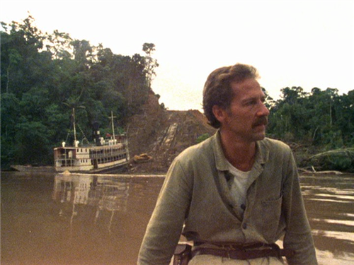 Werner Herzog on the set of  Fitzcarraldo.