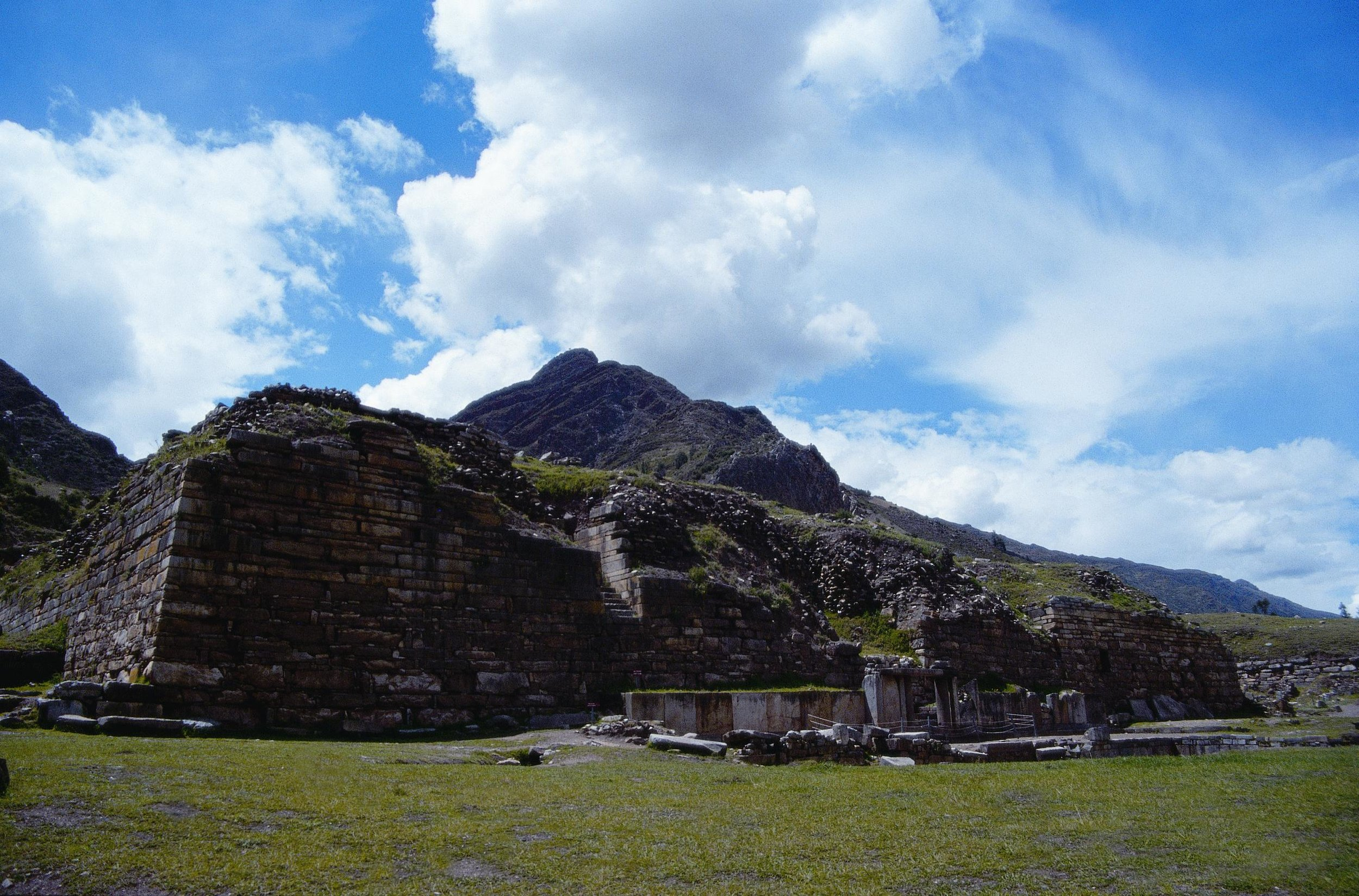 The  Plaza Mayor  at Chavin de Huantar archaeological site.