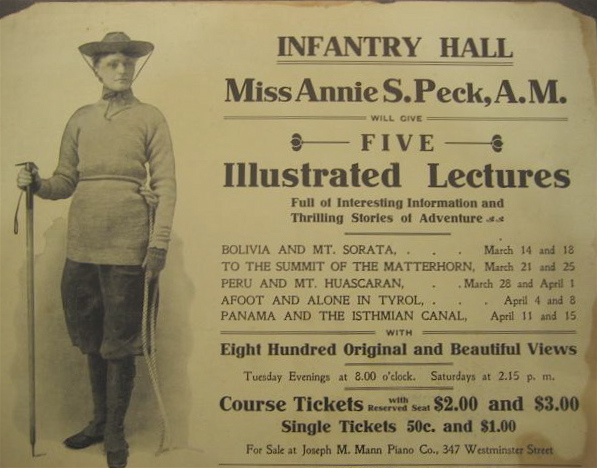 Annie Smith Peck - Huascaran Female Pioneer - Lecture Flyer.jpg