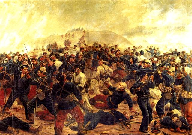 Battle of Arica, 1880, during War of Pacific.