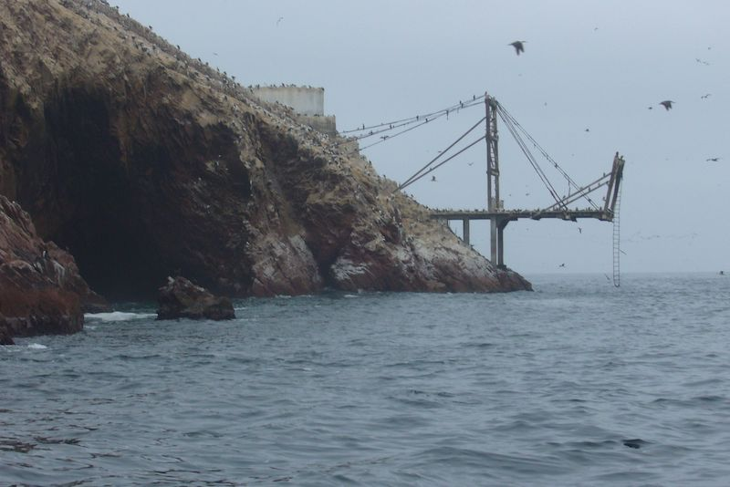 A jetty for the shipping of guano from Ballestas Islands.