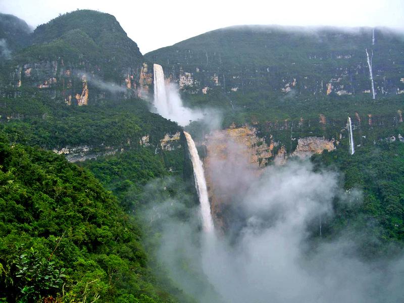 The two drops of Gocta Falls.