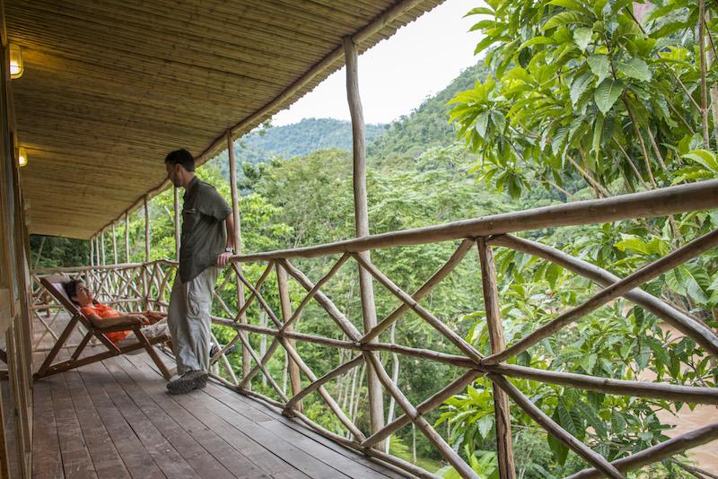 Pumarinri Amazon Lodge, beside the Huallaga River.