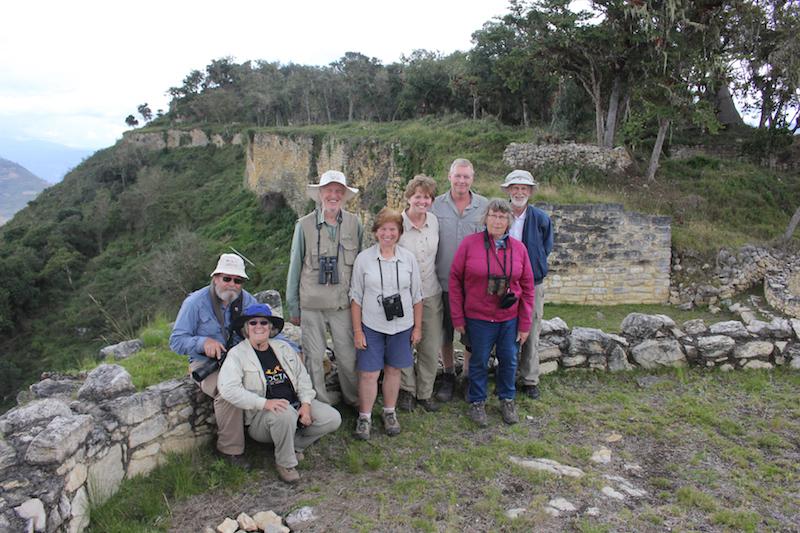 A birding group at Kuelap Ruins.