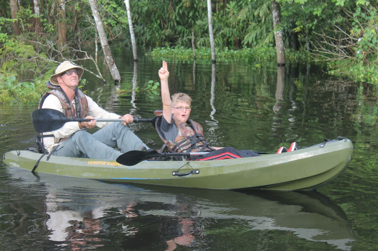 Kayaking is a great way to experience Amazonia.