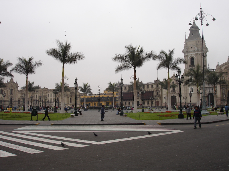 Lima's  Plaza de Armas  in Downtown.