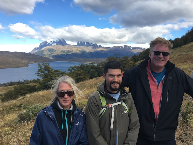 Pitts & Rollo - Chile & Argentina Testimonial - with Guide at Torres del Paine.JPG