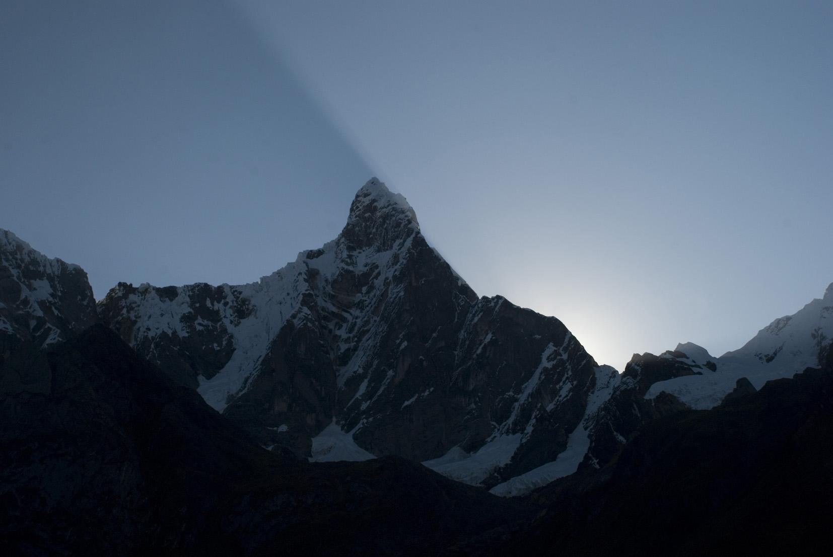 Sunrise in the  Cordillera Huayhuash .