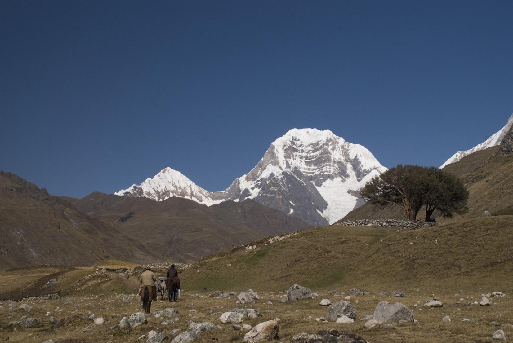 Siula Mountain in the  Cordillera Huayhuash .