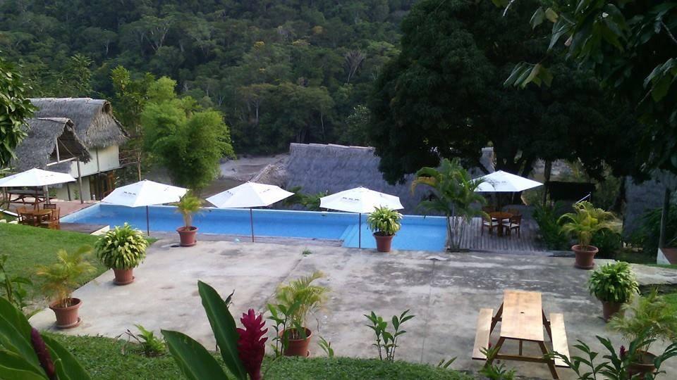 The pool at Pumarinri Amazon Lodge.