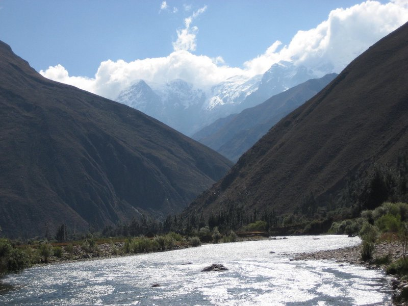 A calm section on the Urubamba River, near Ollantaytambo.