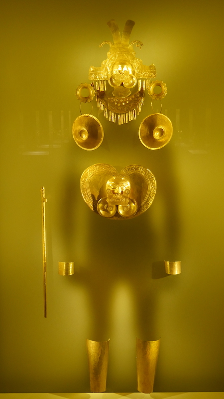 Traditional, pre-Columbian display of wealth.