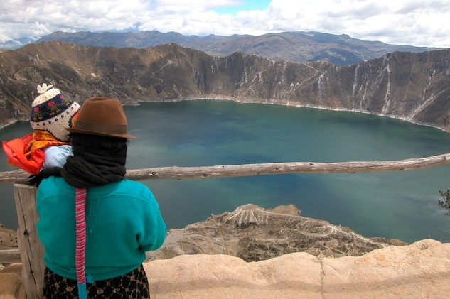 Viewpoint over Quilotoa Lake.