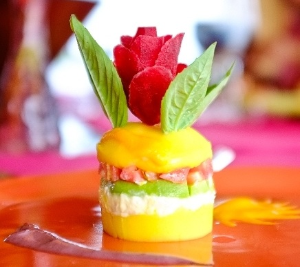 Causa rellena  on board the  Delfin II  Amazon cruise.