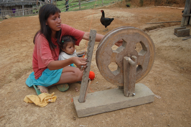 Off-The-Grid in Northern Peru - Lady Weaving in Amazon Village.jpg