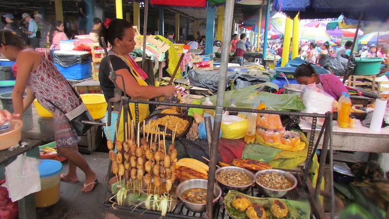 Stall selling Amazonian delicacies in Belen Market.