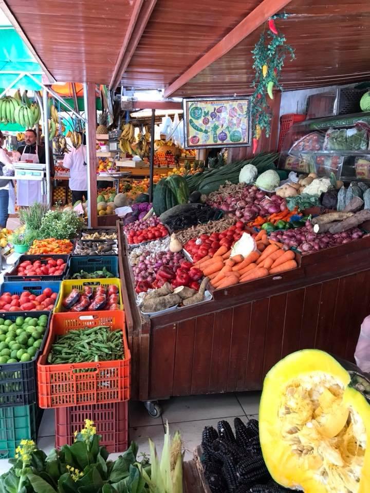 Fresh fruit & vegetables at San Isidro Market.