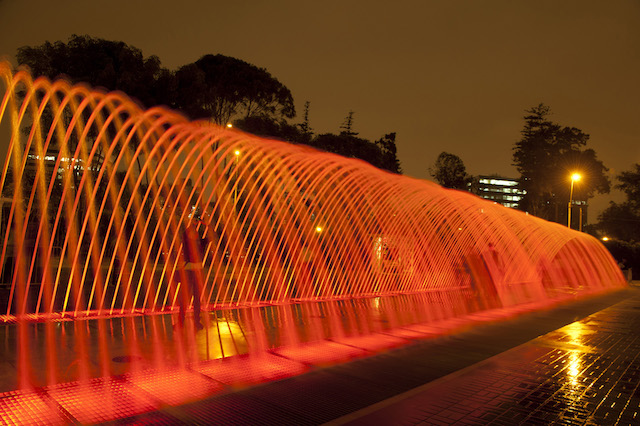 One of 13 fountain installations at the Magic Water Circuit.
