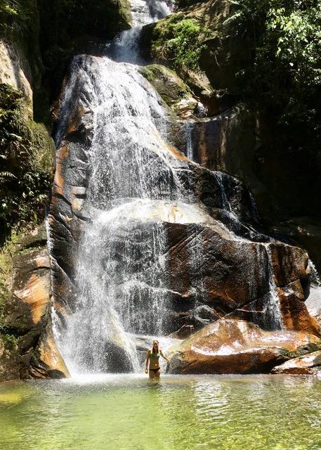 Taking a dip at Pucayaquillo Waterfall, Tarapoto.