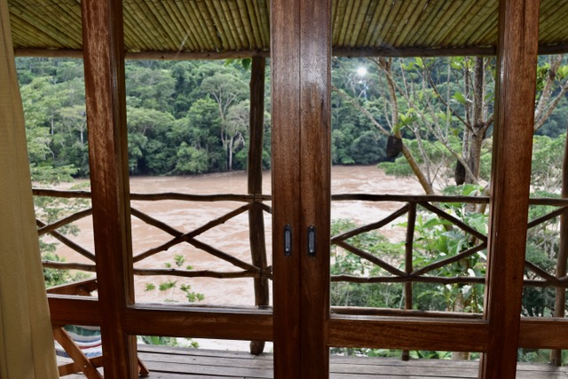 View of Huallaga River from Pumarinri Lodge bedroom.
