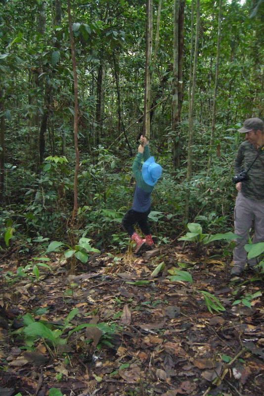 Walter x 2 Testimonial - Pacaya-Samiria Amazon Lodge - Swinging on Vine.JPG