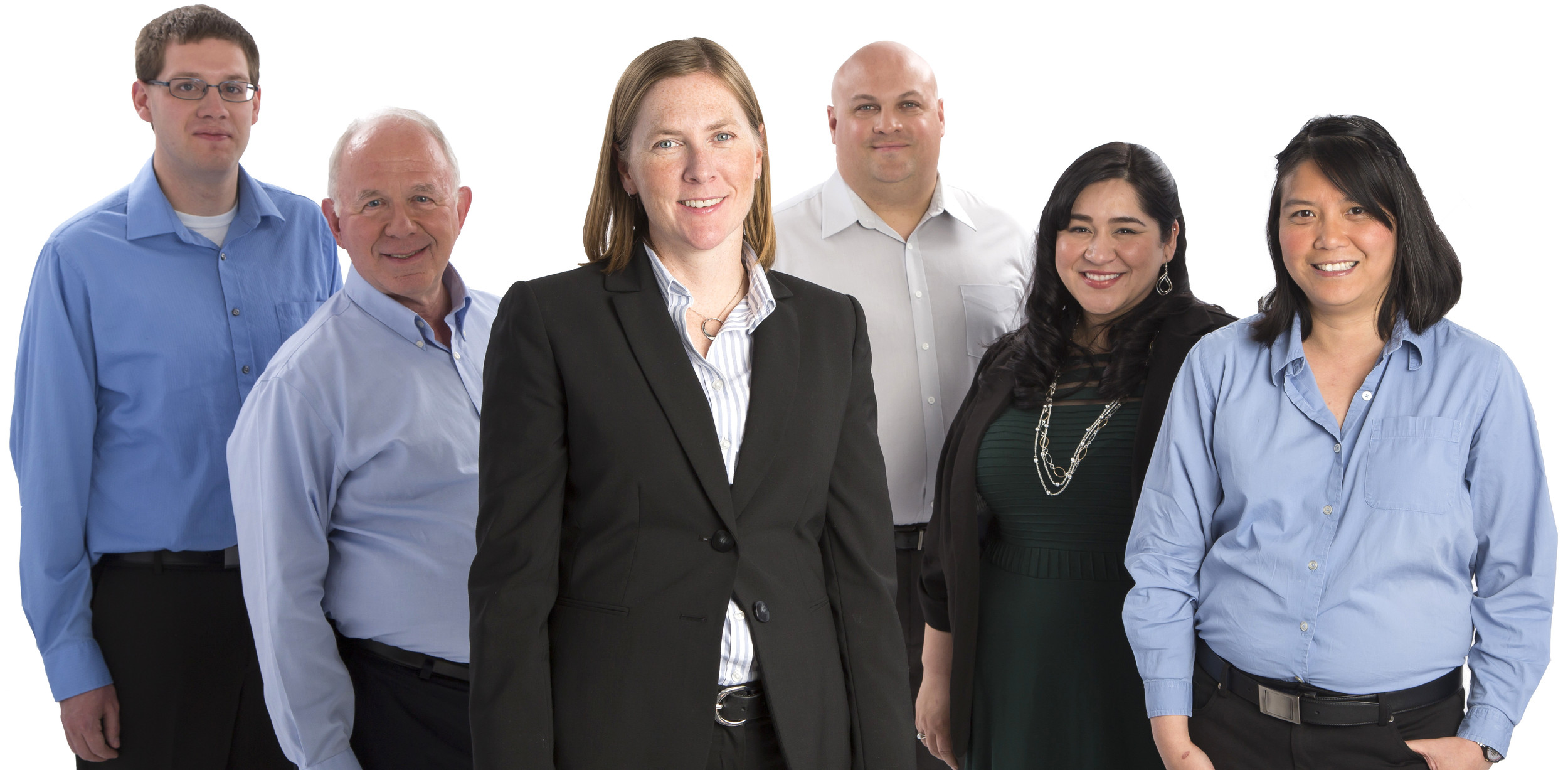 Neumont University's Office of Student Affairs includes (from left to right) Michael Michaud, Larry Crandall, Erin McCormack, John Peppinger, Corrine Padilla, and Alice Nguyen.