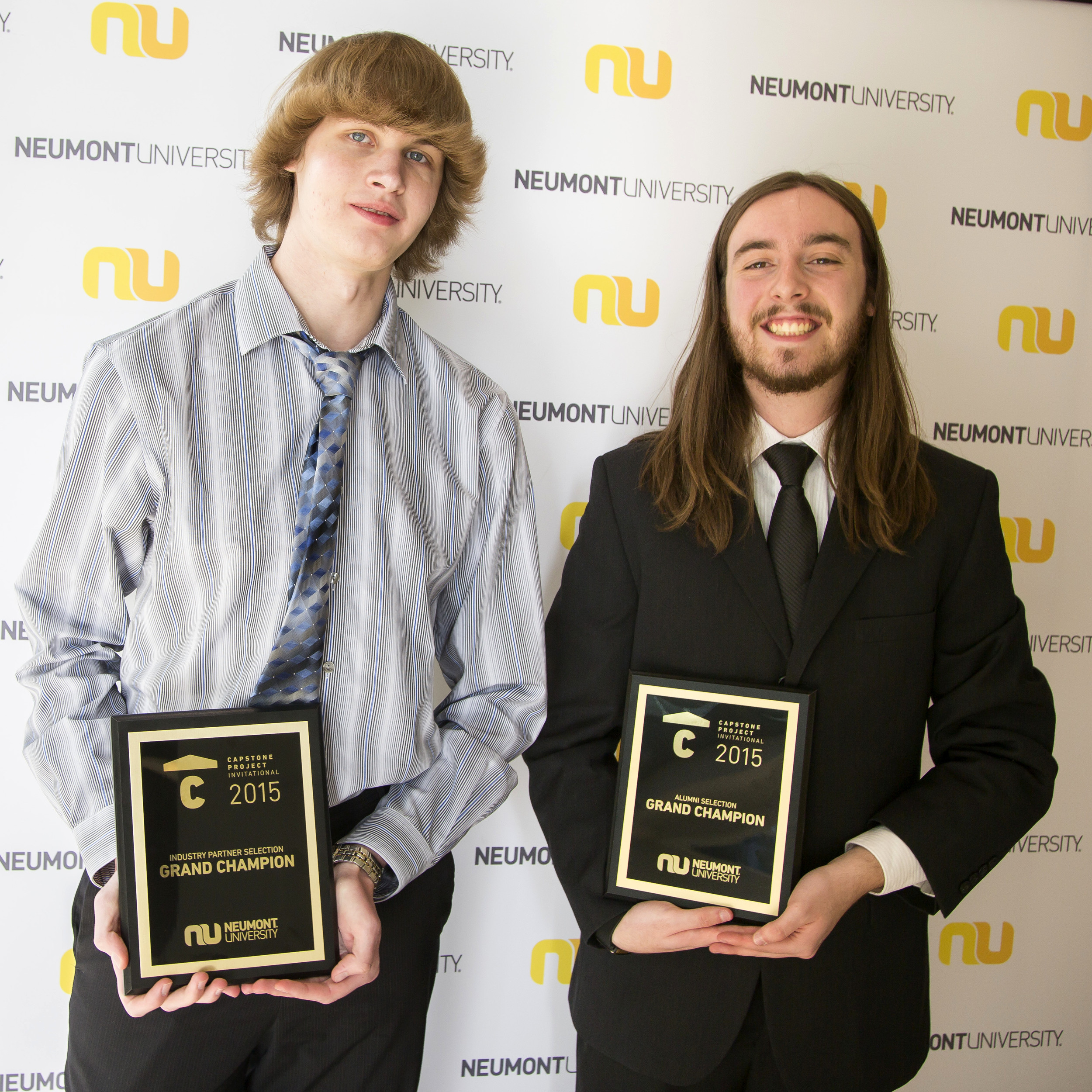 Scott Fries and Emerson Shaffer were name the Industry and Alumni Choice winners respectively for the Capstone Projects.