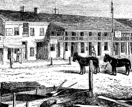 The Salt Lake House in about 1860.