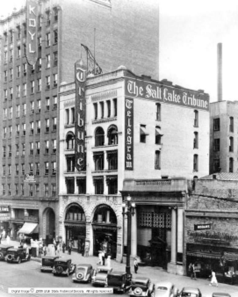 Main Street in Salt Lake City, Utah in 1939.